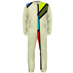 Digitally Created Abstract Page Border With Copyspace Onepiece Jumpsuit (men)