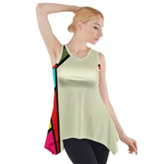 Digitally Created Abstract Page Border With Copyspace Side Drop Tank Tunic