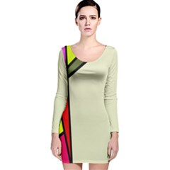Digitally Created Abstract Page Border With Copyspace Long Sleeve Velvet Bodycon Dress