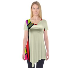 Digitally Created Abstract Page Border With Copyspace Short Sleeve Tunic