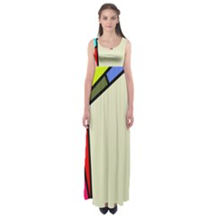 Digitally Created Abstract Page Border With Copyspace Empire Waist Maxi Dress