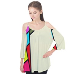 Digitally Created Abstract Page Border With Copyspace Flutter Tees