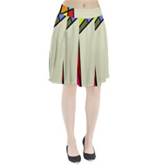 Digitally Created Abstract Page Border With Copyspace Pleated Skirt