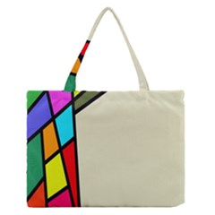 Digitally Created Abstract Page Border With Copyspace Medium Zipper Tote Bag