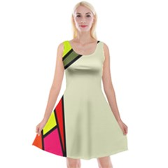 Digitally Created Abstract Page Border With Copyspace Reversible Velvet Sleeveless Dress