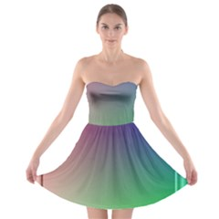 3d Rgb Glass Frame Strapless Bra Top Dress