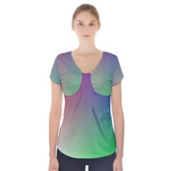 3d Rgb Glass Frame Short Sleeve Front Detail Top