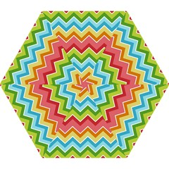 Colorful Background Of Chevrons Zigzag Pattern Mini Folding Umbrellas