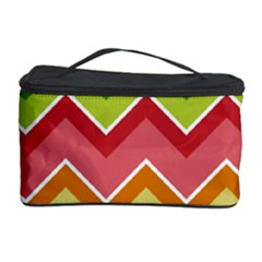 Colorful Background Of Chevrons Zigzag Pattern Cosmetic Storage Case