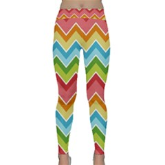 Colorful Background Of Chevrons Zigzag Pattern Classic Yoga Leggings