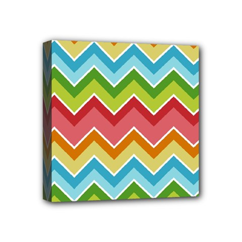 Colorful Background Of Chevrons Zigzag Pattern Mini Canvas 4  x 4