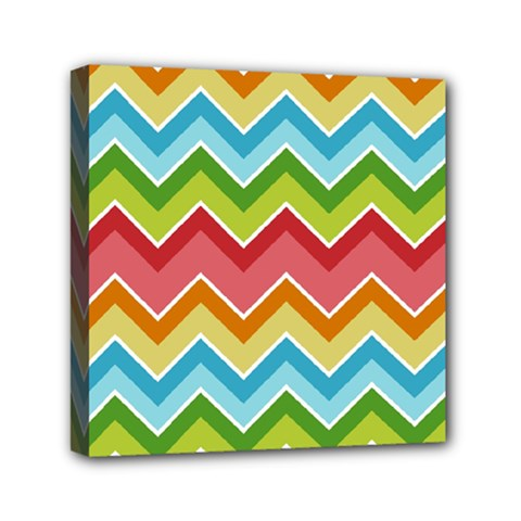 Colorful Background Of Chevrons Zigzag Pattern Mini Canvas 6  X 6
