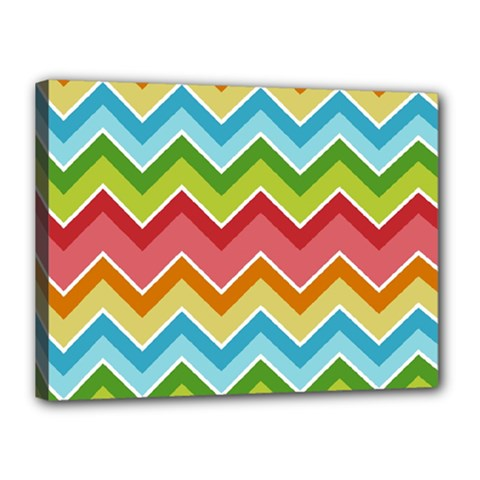 Colorful Background Of Chevrons Zigzag Pattern Canvas 16  X 12