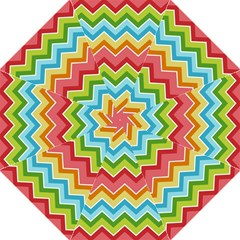 Colorful Background Of Chevrons Zigzag Pattern Hook Handle Umbrellas (large)