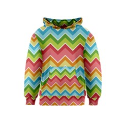 Colorful Background Of Chevrons Zigzag Pattern Kids  Pullover Hoodie