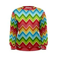 Colorful Background Of Chevrons Zigzag Pattern Women s Sweatshirt