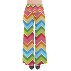 Colorful Background Of Chevrons Zigzag Pattern Pants