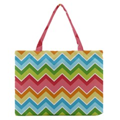 Colorful Background Of Chevrons Zigzag Pattern Medium Zipper Tote Bag