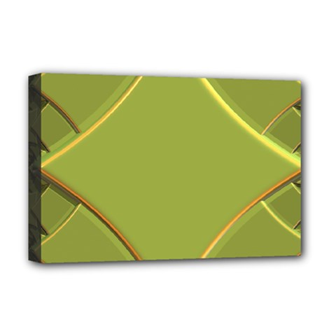 Fractal Green Diamonds Background Deluxe Canvas 18  x 12