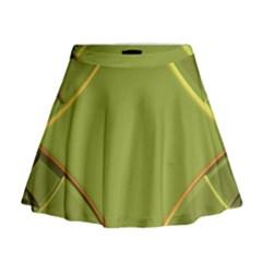 Fractal Green Diamonds Background Mini Flare Skirt