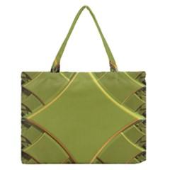 Fractal Green Diamonds Background Medium Zipper Tote Bag