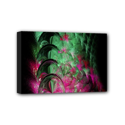 Pink And Green Shapes Make A Pretty Fractal Image Mini Canvas 6  X 4