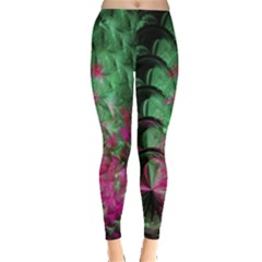 Pink And Green Shapes Make A Pretty Fractal Image Leggings