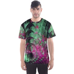Pink And Green Shapes Make A Pretty Fractal Image Men s Sport Mesh Tee