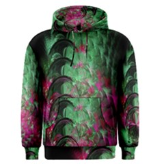 Pink And Green Shapes Make A Pretty Fractal Image Men s Pullover Hoodie
