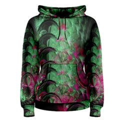 Pink And Green Shapes Make A Pretty Fractal Image Women s Pullover Hoodie