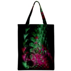 Pink And Green Shapes Make A Pretty Fractal Image Zipper Classic Tote Bag