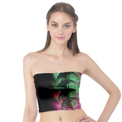 Pink And Green Shapes Make A Pretty Fractal Image Tube Top