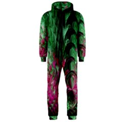 Pink And Green Shapes Make A Pretty Fractal Image Hooded Jumpsuit (Men)