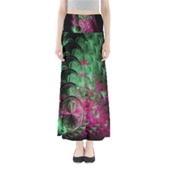 Pink And Green Shapes Make A Pretty Fractal Image Maxi Skirts