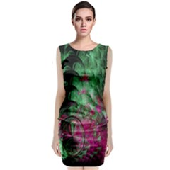 Pink And Green Shapes Make A Pretty Fractal Image Classic Sleeveless Midi Dress
