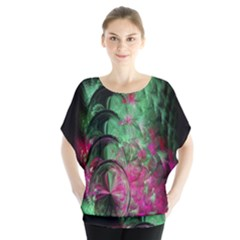 Pink And Green Shapes Make A Pretty Fractal Image Blouse
