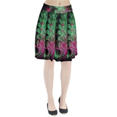 Pink And Green Shapes Make A Pretty Fractal Image Pleated Skirt