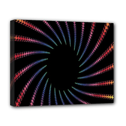 Fractal Black Hole Computer Digital Graphic Deluxe Canvas 20  x 16
