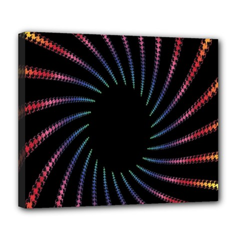 Fractal Black Hole Computer Digital Graphic Deluxe Canvas 24  X 20