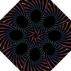 Fractal Black Hole Computer Digital Graphic Golf Umbrellas