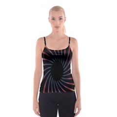 Fractal Black Hole Computer Digital Graphic Spaghetti Strap Top