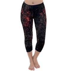 July 4th Fireworks Party Capri Winter Leggings