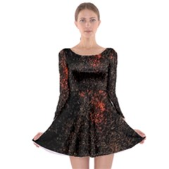 July 4th Fireworks Party Long Sleeve Skater Dress
