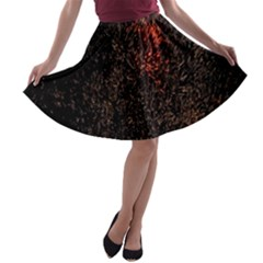 July 4th Fireworks Party A Line Skater Skirt