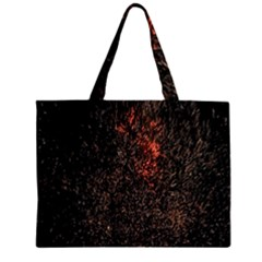 July 4th Fireworks Party Zipper Large Tote Bag