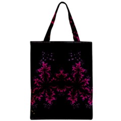 Violet Fractal On Black Background In 3d Glass Frame Classic Tote Bag