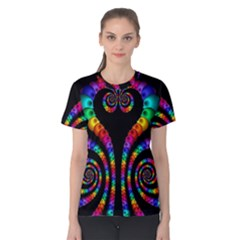 Fractal Drawing Of Phoenix Spirals Women s Cotton Tee
