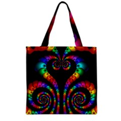 Fractal Drawing Of Phoenix Spirals Grocery Tote Bag