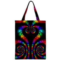 Fractal Drawing Of Phoenix Spirals Zipper Classic Tote Bag