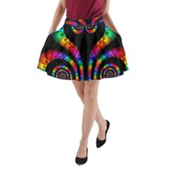 Fractal Drawing Of Phoenix Spirals A-Line Pocket Skirt